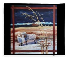 Phil And Alice Navajo Sheep    38 Fleece Blanket
