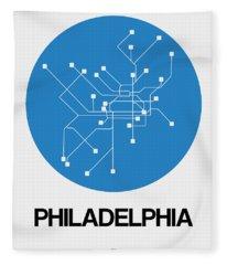 Philadelphia Blue Subway Map Fleece Blanket