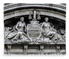 Philadelphia City Seal - City Hall  Fleece Blanket