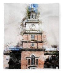 Philadelphia Independence Hall - 01 Fleece Blanket