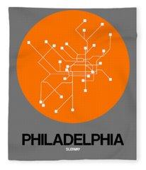 Philadelphia Orange Subway Map Fleece Blanket