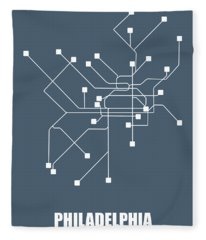 Philadelphia Subway Map Fleece Blanket