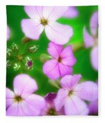 Phlox Flowers Fleece Blanket
