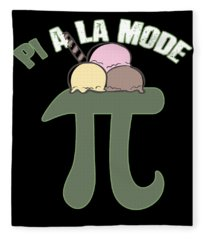 Pi A La Mode Funny Pi Day Ice Cream Fleece Blanket