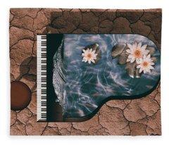 Piano Fleece Blanket