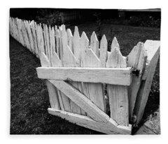 Pickett Fence Fleece Blanket