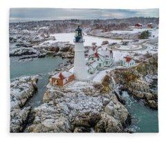 Picturesque Maine  Fleece Blanket