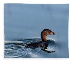 Pied-billed Grebe Fleece Blanket