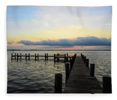 Pier Into Morning Fleece Blanket