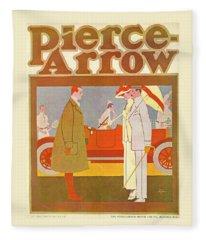Pierce-arrow Advertisement Fleece Blanket
