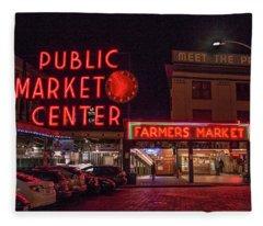 Pike Place Market.1 Fleece Blanket