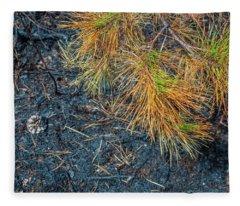 Pine Barrens Burn Fleece Blanket