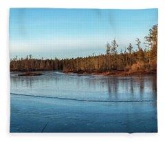Pine Lands Lanscape Fleece Blanket