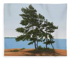 Pine On The Point Fleece Blanket