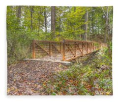 Pine Quarry Park Bridge Fleece Blanket