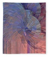 Pink, Blue And Purple Fleece Blanket
