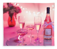 Pink Champagne Fleece Blanket