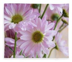 Pink Daisies-1 Fleece Blanket