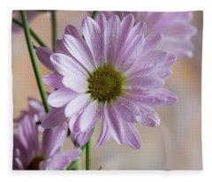 Pink Daisies-5 Fleece Blanket