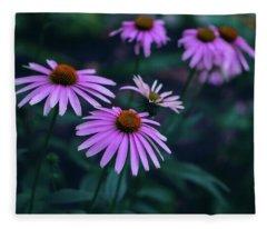 Pink Echinacea Fleece Blanket