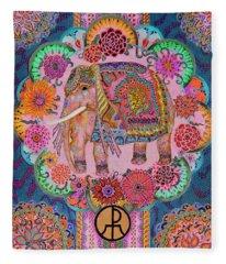 Pink Elephant Fleece Blanket