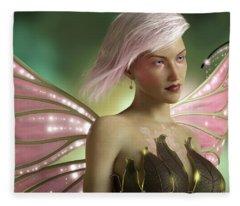 Pink Fairy Fleece Blanket