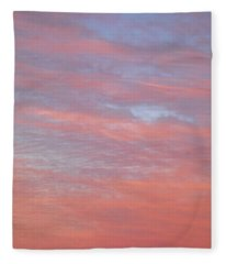 Pink In The Sky Fleece Blanket