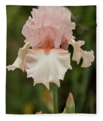 Pink Iris In France Fleece Blanket