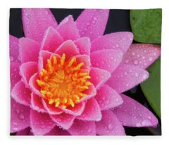 Pink Petals In The Rain  Fleece Blanket