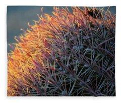 Pink Prickly Cactus Fleece Blanket