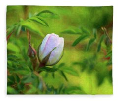 Pink Rose - Lady In Waiting - By Omaste Witkowski Fleece Blanket