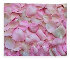 Pink Rose Petals Fleece Blanket