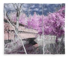 Pink Sachs Fleece Blanket