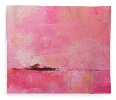 Pink Sky Abstract Fleece Blanket