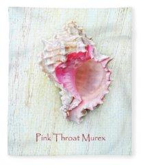 Pink Throat Murex II Fleece Blanket