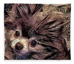 Piper The Pomeranian Fleece Blanket