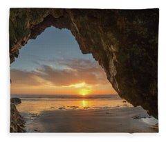Pismo Caves Sunset Fleece Blanket