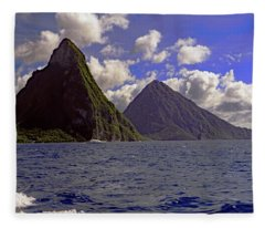 Pitons Fleece Blanket