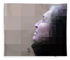 Pixel Portrait Fleece Blanket