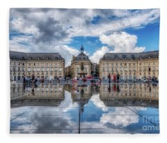 Place De La Bourse 1 Fleece Blanket