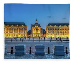 Place De La Bourse 2 Fleece Blanket