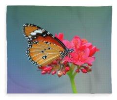 Plain Tiger Or African Monarch Butterfly Dthn0246 Fleece Blanket