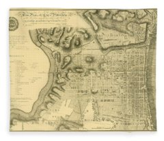 Plan Of The City Of Philadelphia And Its Environs Shewing The Improved Parts, 1796 Fleece Blanket