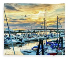 Planes, Trains, Boats And Automobiles Fleece Blanket