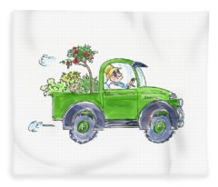 Plant Delivery Fleece Blanket