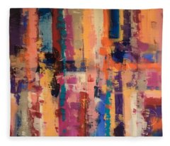 Playful Colors Iv Fleece Blanket