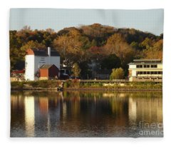 Playhouse In Fall Fleece Blanket