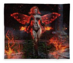 Playing With Fire Fleece Blanket