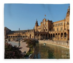 Plaza De Espana Bridge View Fleece Blanket