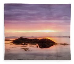 Plum Cove Glow, Gloucester Ma. Fleece Blanket